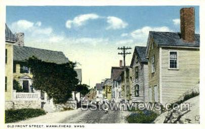 Old Front St. - Marblehead, Massachusetts MA Postcard