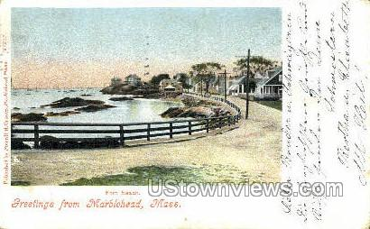 Fort Beach - Marblehead, Massachusetts MA Postcard