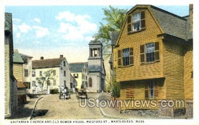 Old Bowen House - Marblehead, Massachusetts MA Postcard
