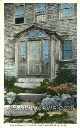 Old Doorway, Lookout Court - Marblehead, Massachusetts MA Postcard