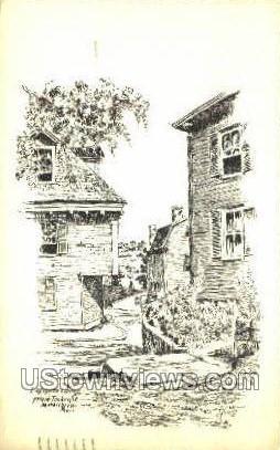 Lafayette corner - Marblehead, Massachusetts MA Postcard