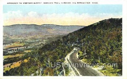 Approach to Wester Summit - Mohawk Trail, Massachusetts MA Postcard