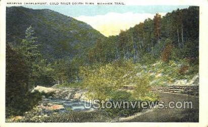 Cold River South Turn - Mohawk Trail, Massachusetts MA Postcard