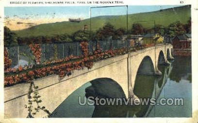 Bridge of Flowers - Mohawk Trail, Massachusetts MA Postcard