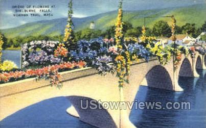 Bridge of Flowers, Shelburne Falls - Mohawk Trail, Massachusetts MA Postcard