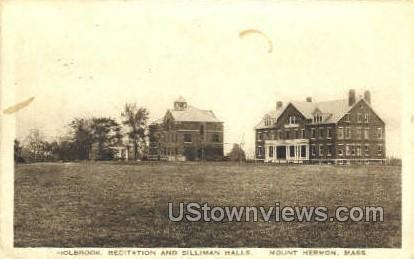 Silliman Halls - Mt Hermon, Massachusetts MA Postcard