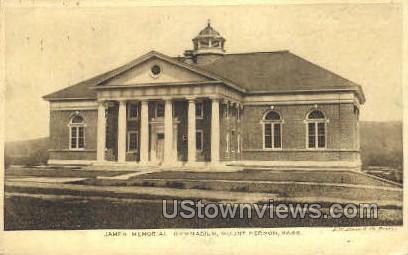 James Memorial Gymnasium - Mt Hermon, Massachusetts MA Postcard
