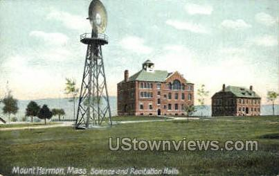 Science & Recitation Halls - Mt Hermon, Massachusetts MA Postcard