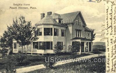 Dwight's Home - Mt Hermon, Massachusetts MA Postcard