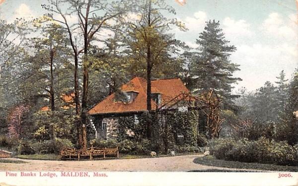Pine Banks LodgeMalden, Massachusetts Postcard