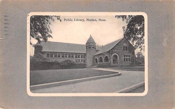 Public LibraryMalden, Massachusetts Postcard