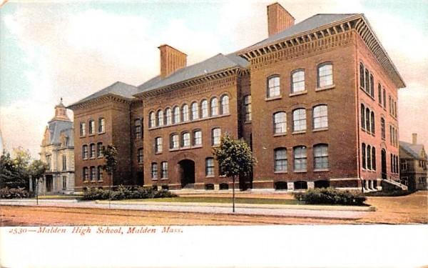Malden High School Massachusetts Postcard