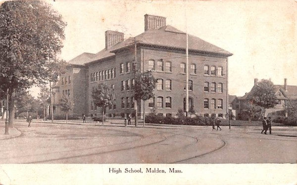 High SchoolMalden, Massachusetts Postcard
