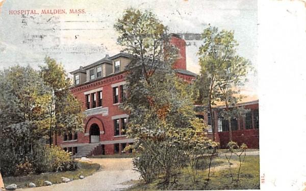 Hospital Malden, Massachusetts Postcard