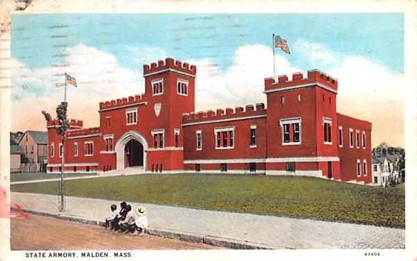 State Armory Malden, Massachusetts Postcard