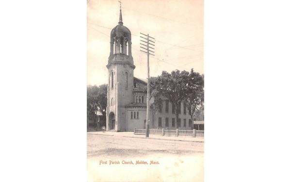 First Baptist ChurchMalden, Massachusetts Postcard