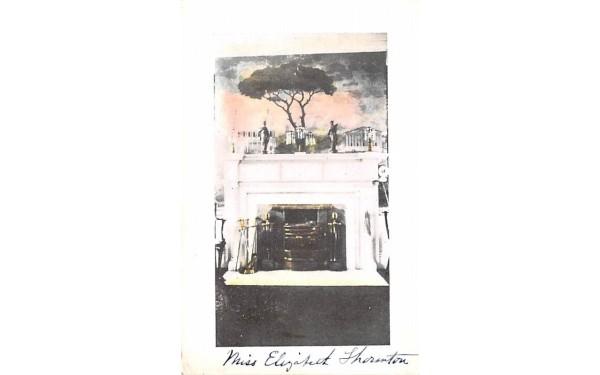 Fireplace in house Misc, Massachusetts Postcard