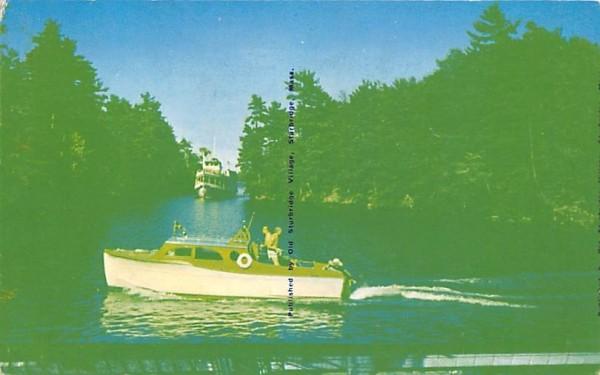 Men fishing Misc, Massachusetts Postcard