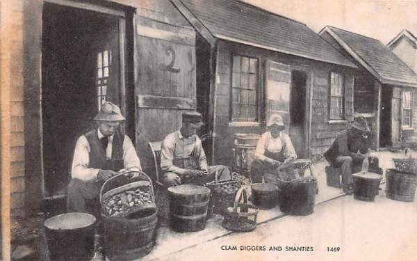 Clam Diggers & Shanties Misc, Massachusetts Postcard