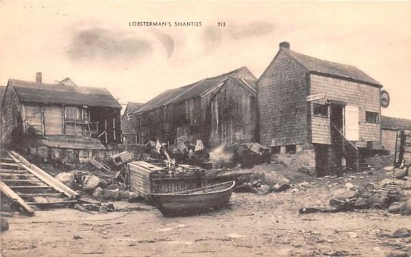 Lobsterman's Shanties Misc, Massachusetts Postcard