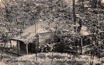 The Old Log CabinMalden, Massachusetts Postcard