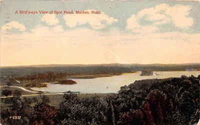 A Birds Eye View Spot PondMalden, Massachusetts Postcard
