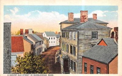 A Quaint Old StreetMarblehead , Massachusetts Postcard