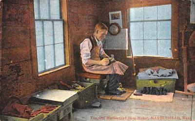 The Old Marblehead Shoe Maker Massachusetts Postcard