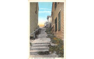 The Old Alley StepsMarblehead , Massachusetts Postcard