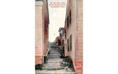 The Old Alley StepsMarblehead , Massachusetts Postcard