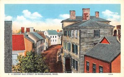 A Quaint Old Street Marblehead, Massachusetts Postcard