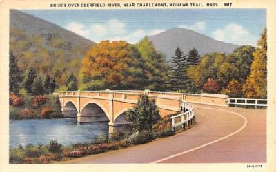 Bridge over Deerfield River Mohawk Trail, Massachusetts Postcard
