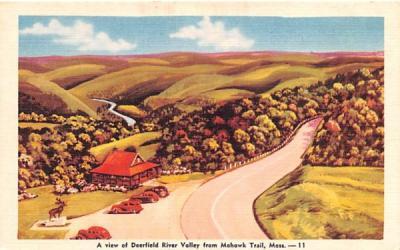 A View of Deerfield River Valley Mohawk Trail, Massachusetts Postcard