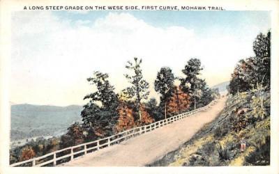 A Long Steep Grade on the West Side Mohawk Trail, Massachusetts Postcard