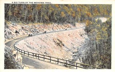 A Big Turn of the Mohawk Trail Massachusetts Postcard
