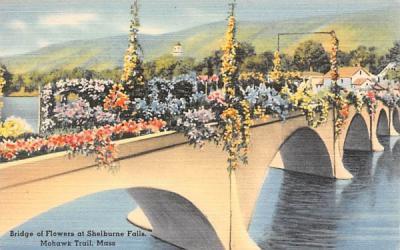 Bridge of Flowers at Shelburne Falls Mohawk Trail, Massachusetts Postcard