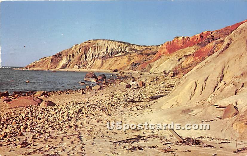Gay Head Cliffs from Beach - Misc, Massachusetts MA Postcard