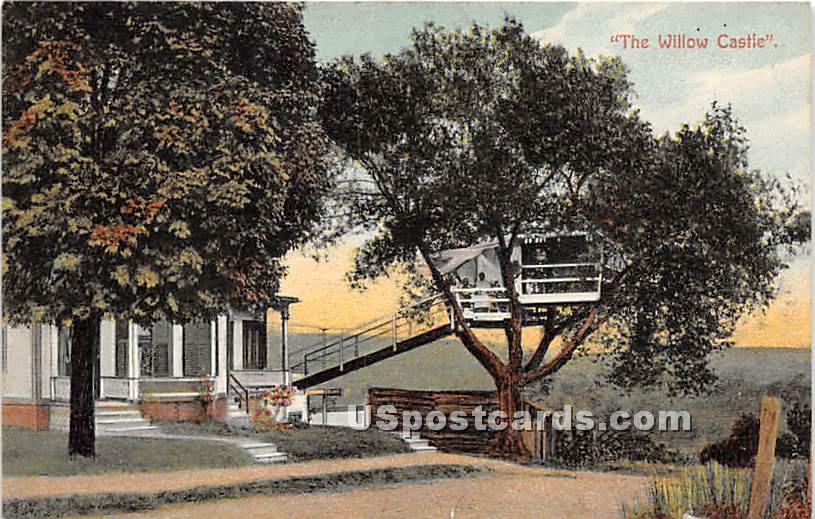 The Willow Castle - Misc, Massachusetts MA Postcard