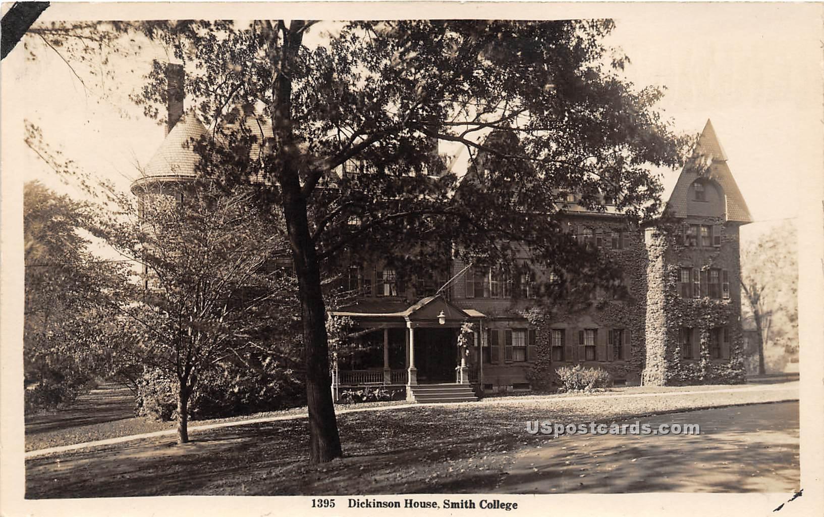 Dickinson House - Misc, Massachusetts MA Postcard
