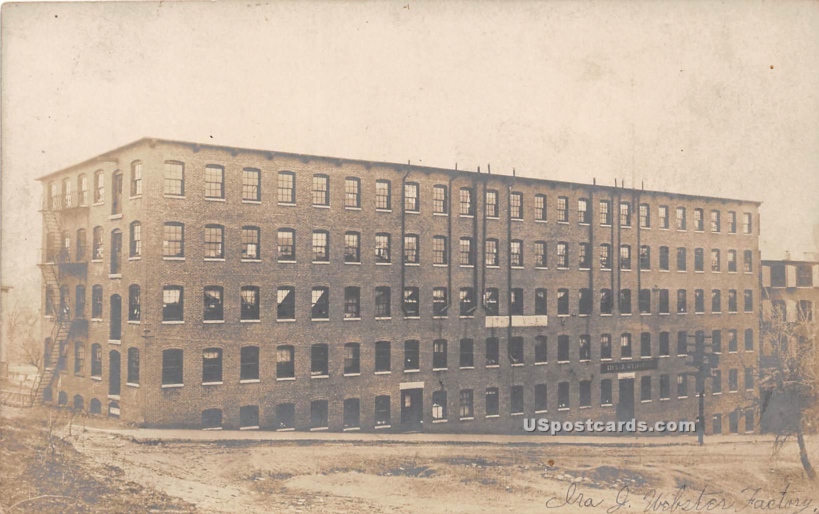 Ira J Webster Factory - Misc, Massachusetts MA Postcard