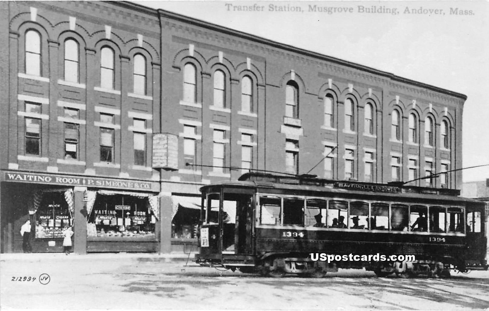 Trolley - Misc, Massachusetts MA Postcard