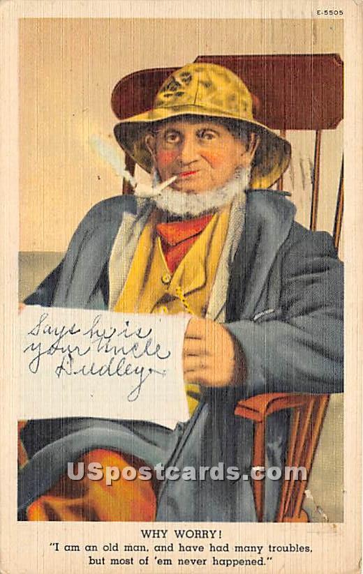 Why Worry - Misc, Massachusetts MA Postcard
