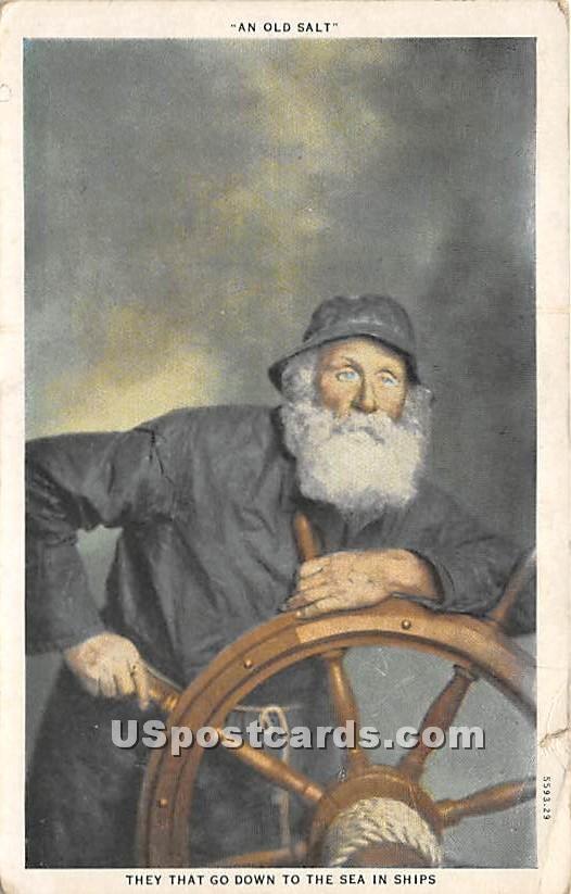 An Old Salt - Misc, Massachusetts MA Postcard