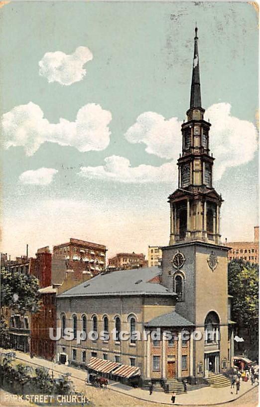 Park Street Church - Misc, Massachusetts MA Postcard