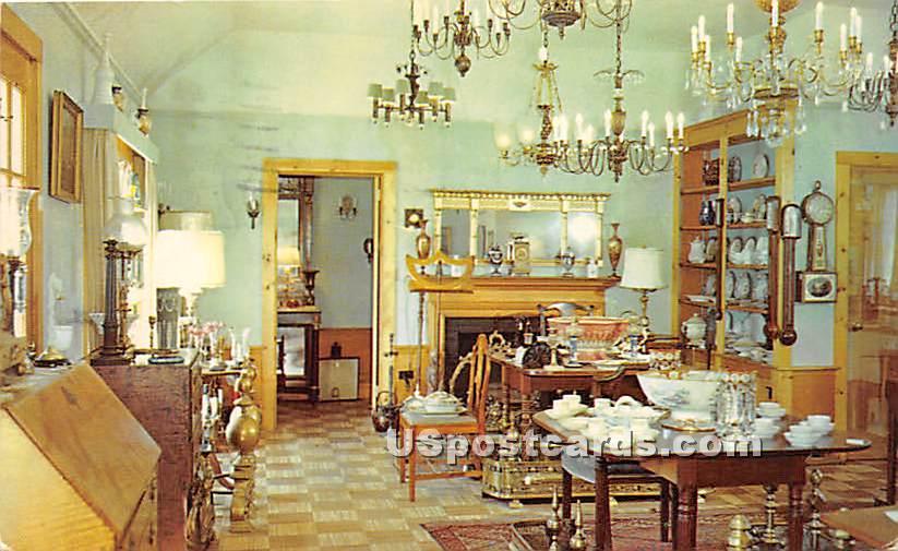 Interior of Coonamessett Inn Antiques Shop - Misc, Massachusetts MA Postcard