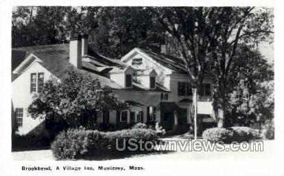 Brookbend, A Village Inn - Monetery, Massachusetts MA Postcard