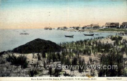 new Point, Basin, Plum Island - Newburyport, Massachusetts MA Postcard