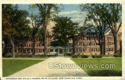 Northrop & Gillett Houses, Smith College - Northampton, Massachusetts MA Postcard