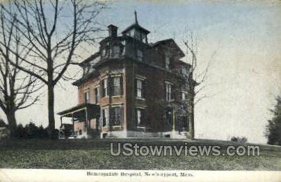 Homeopathic Hospital - Newburyport, Massachusetts MA Postcard