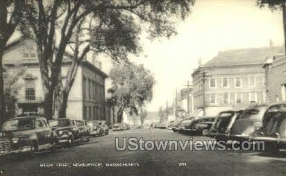 Green Street - Newburyport, Massachusetts MA Postcard